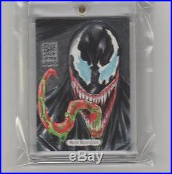Venom Sketch Card 2016 Marvel Masterpieces Jusko Color 1/1 Dong Beniga Jr
