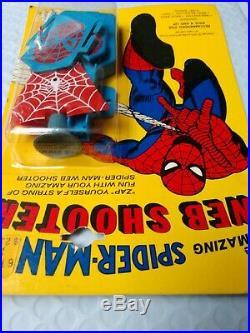 Vtg New Unopened 1975 Funstuf Marvel Comics Amazing Spiderman Web Dart Shooter