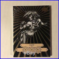 WASP Tdm-5 Parallel DIAMOND MINE BLACK 1/1 Triple Card 2016 MARVEL GEMS UDE
