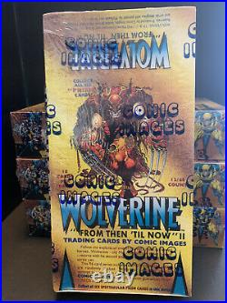 Wolverine From Then Til now Factory Sealed Marvel Trading Card Box Comic Images