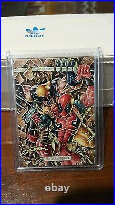 Wolverine vs Deadpool 1/1 Sketch by Basio 2016 Marvel Masterpieces Joe Jusko