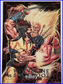 Wolverine vs Sabretooth Battle 3-D 1992 Marvel Masterpieces SkyBox trading Card