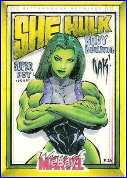 Women of Marvel SKETCH card Fantastic Four Avengers SHE-HULK by NAR! LAST CHANCE