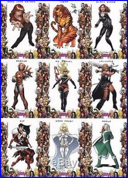 Women of Marvel Set 1&2, Sapphire Set, 4 Chase Sets & Divas 1&2 Sets together