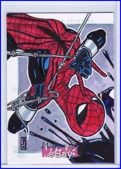 Women of Marvel Spider-girl vs. SHE-VENOM Sketchafex Sketch Card
