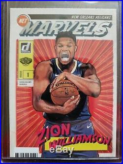 Zion Williamson Lot 2019 (11 Total Rookie Card's) withMARVELS & The Rookies