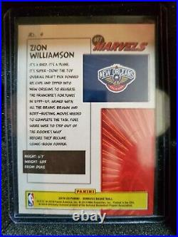 Zion williamson donruss marvels press proofGold & Silver